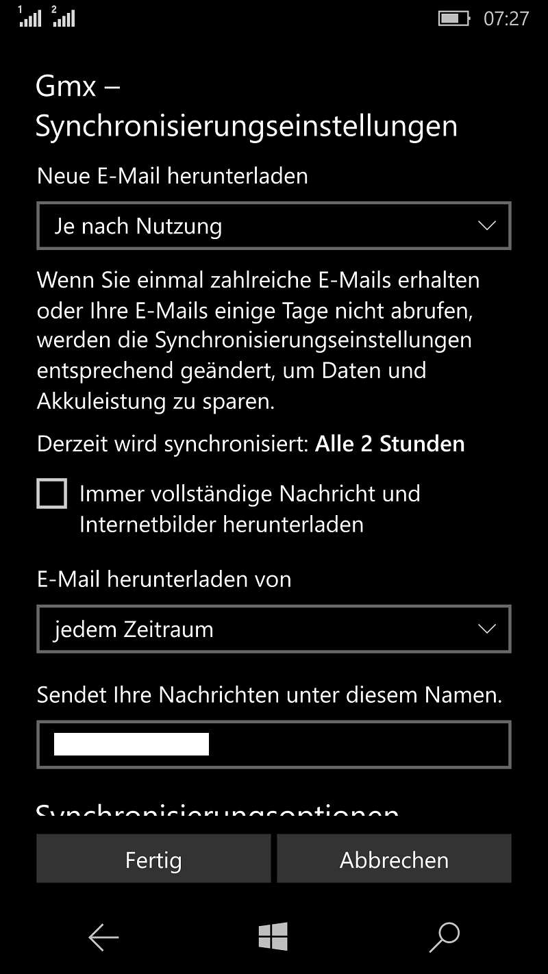 Gmx Synchronisationsproblem Bei Windows 10 Mail Windows Mobile