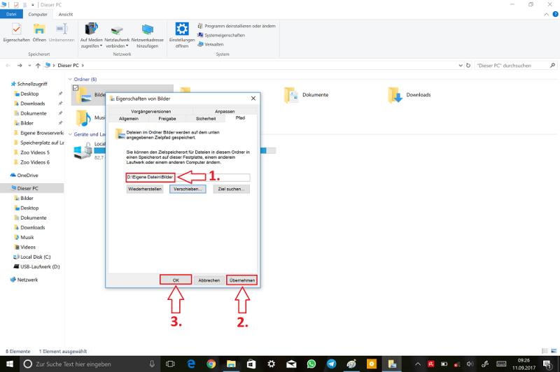 Windows-Explorer-Dieser-PC-Bilder-Eigenschaften-Pfad-Ziel-auswählen-Bestätigen.png