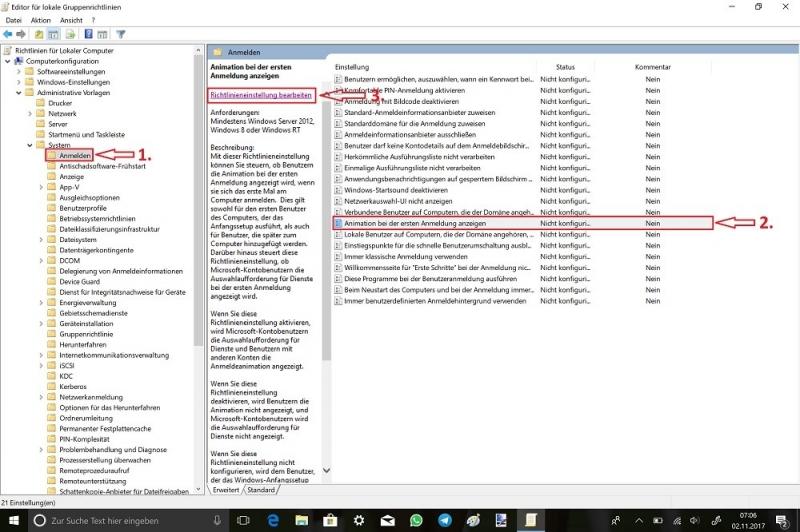 Ausführen-gpedit.msc-Computerkonfiguration-Administrative-Vorlage-System-Anmelden-Animation-bei-der-ersten-Anmeldung-anzeigen-Richtlinieneinstellung-bearbeiten.jpg