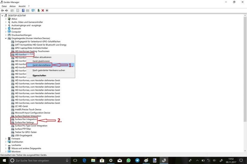 Cortana-Suchfeld-Geräte-Manager-Eingabegeräte-Human-Interface-Devices-HID-konformer-Stift-Gerät-deinstallieren.jpg