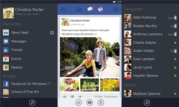 Facebook App-Beta-WP-8-Screenshots