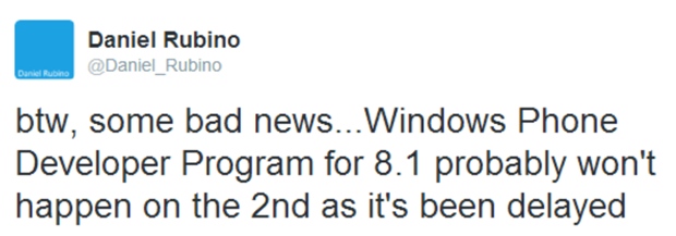 WP 8.1 Developer Preview
