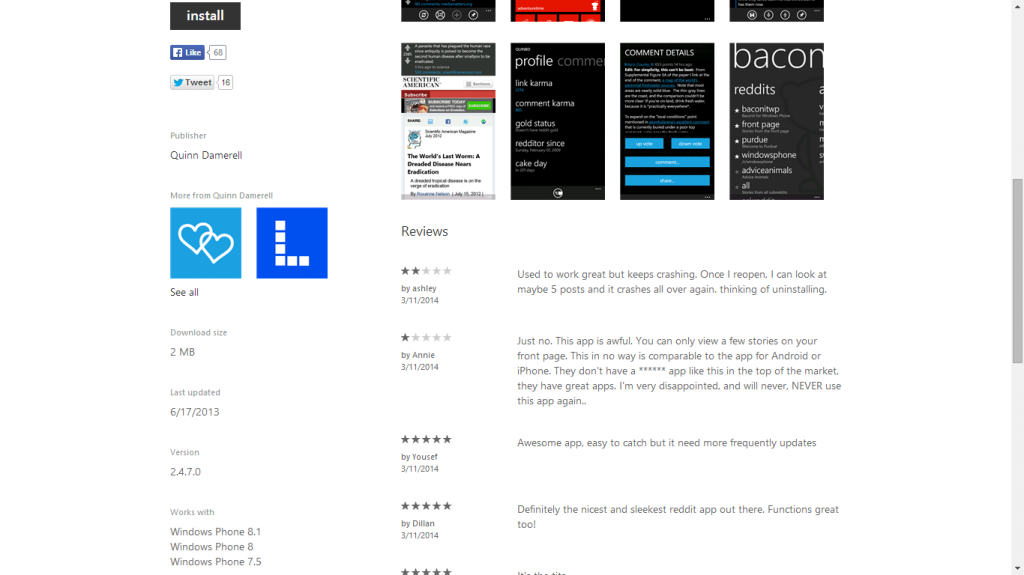 Windows Phone 8.1-Zertifizierte App