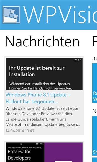 WPVision.de App News