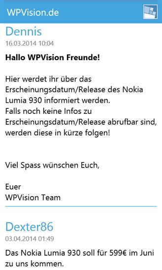 WPVision.de App Thread
