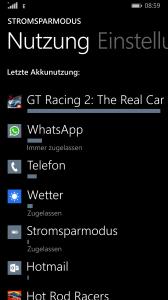 Nokia Lumia 930 Stromverbrauch
