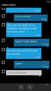 Lösch-Modus SMS