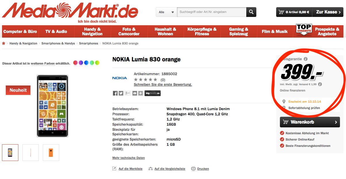 Lumia 830 Release Date