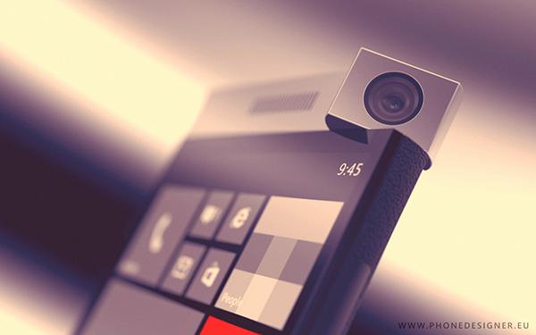 Konzept Windows Phone drehbare Kamera