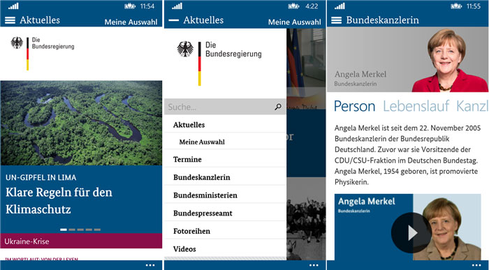 Bundesregierung-Windows-Phone-App