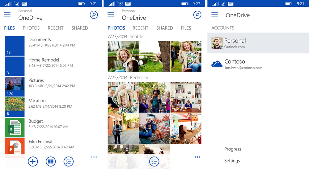 Das neue OneDrive User Interface