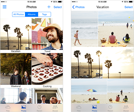 So sehen die OneDrive Alben jetzt auf eurem...erm... iPhone aus.