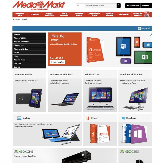 MediaMarkt Microsoft Shop