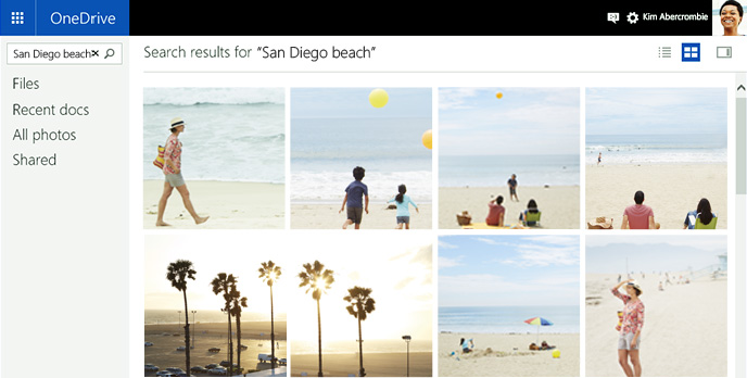 OneDrive-Bilderkennung-Suche-Bing