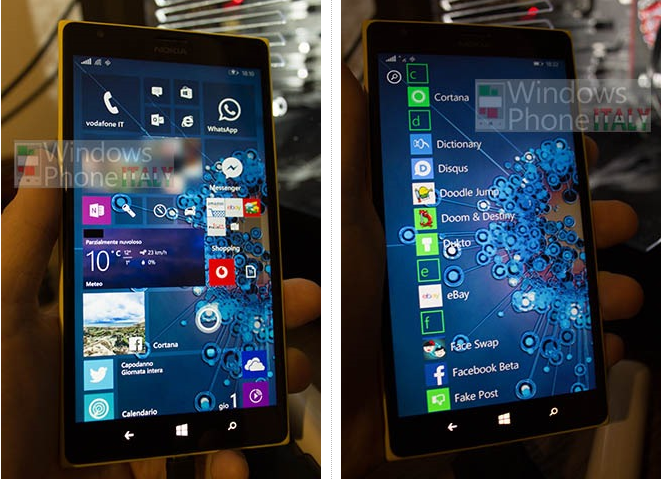Windows (Phone) 10 Startbildschirm