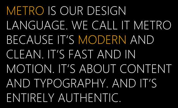 Aus dem Design-Manifest von Metro