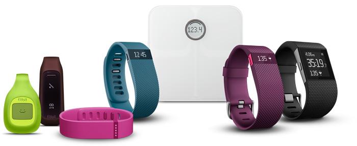 Die FitBit Produktpalette. Bildquelle: fitbit.com/de
