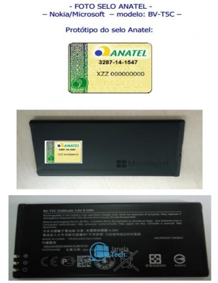 Der neue Akku des vermeintlichen Lumia 640. Quelle: JanaTel