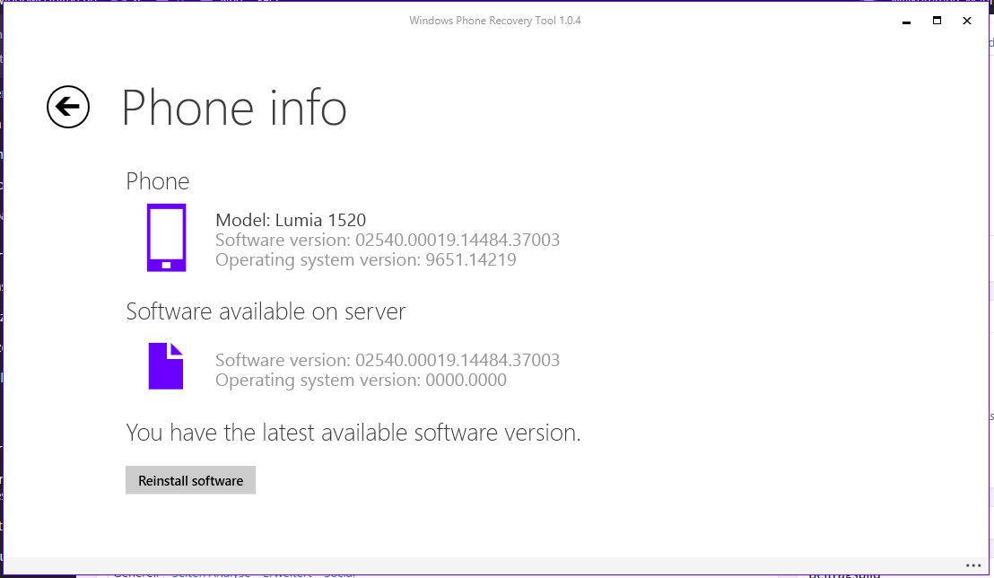 Windows Phone Software Recovery tool 2