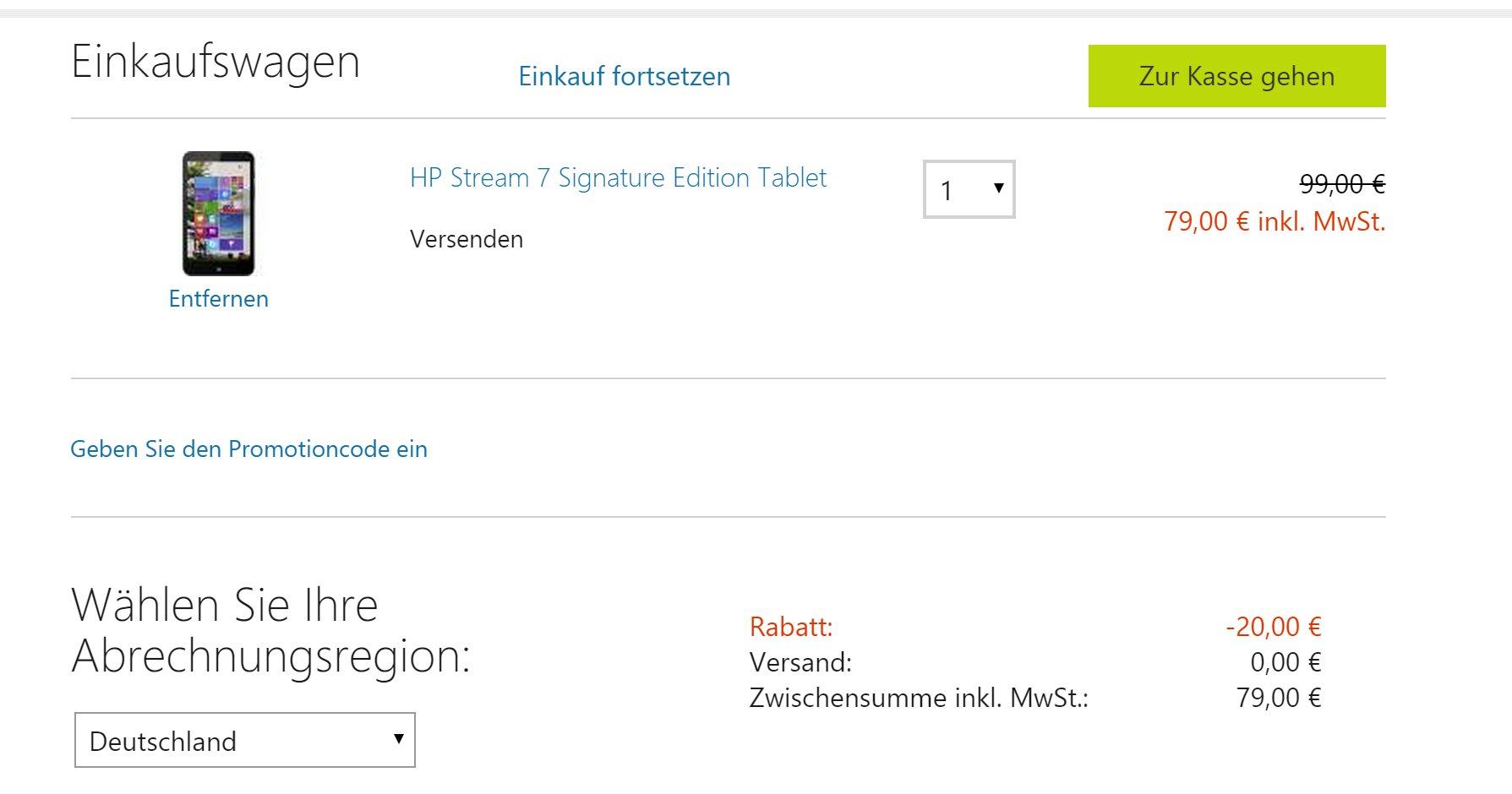 HP Stream Microsoft Store