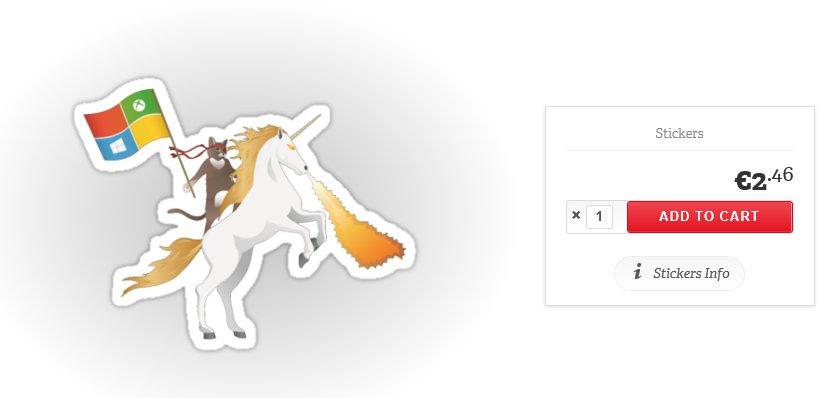 Ninja Katze Sticker Microsoft