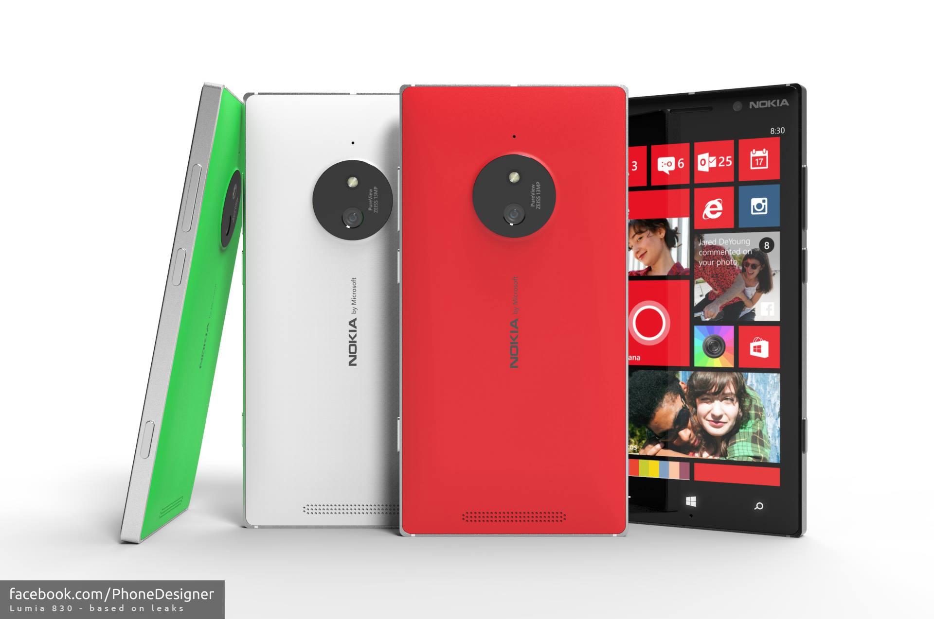 Lumia 830 Mockups basierend auf Leaks