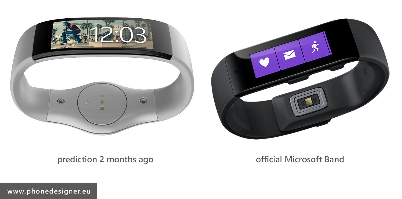 PhoneDesigner Smartband vs Microsoft Band