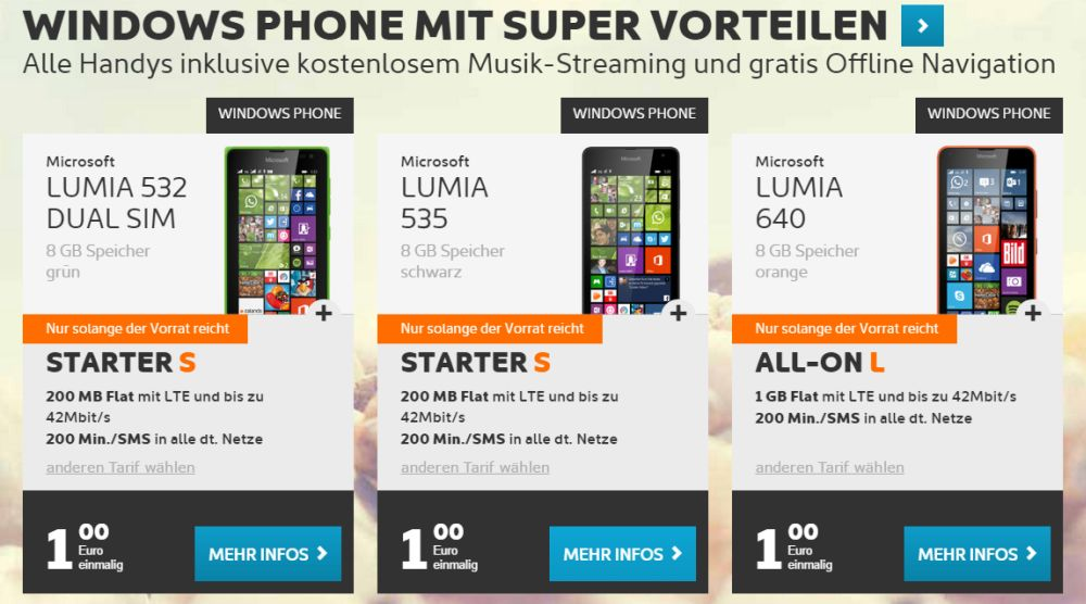 Lumia 640 Simyo