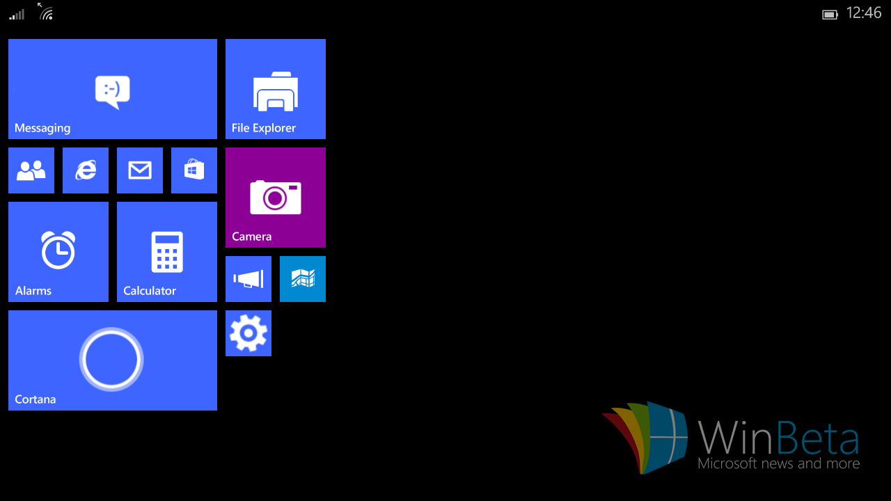 Windows 10 auf kleinen Tablets. Screenshot: winbeta.org