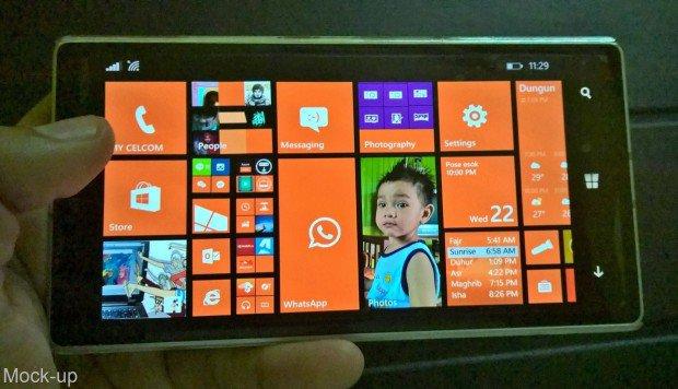 Windows Phone Landscape Homescreen