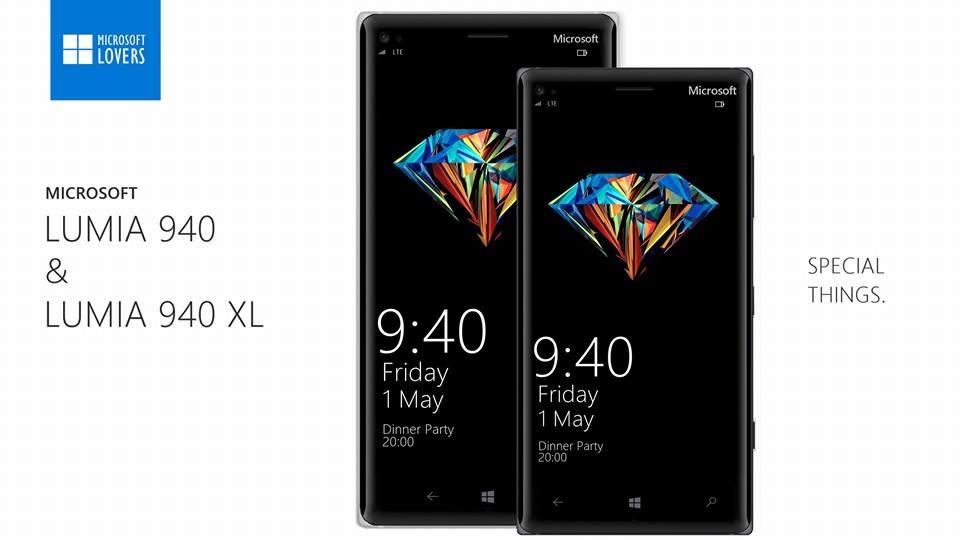 Lumia 940 Lumia 940 XL Konzept