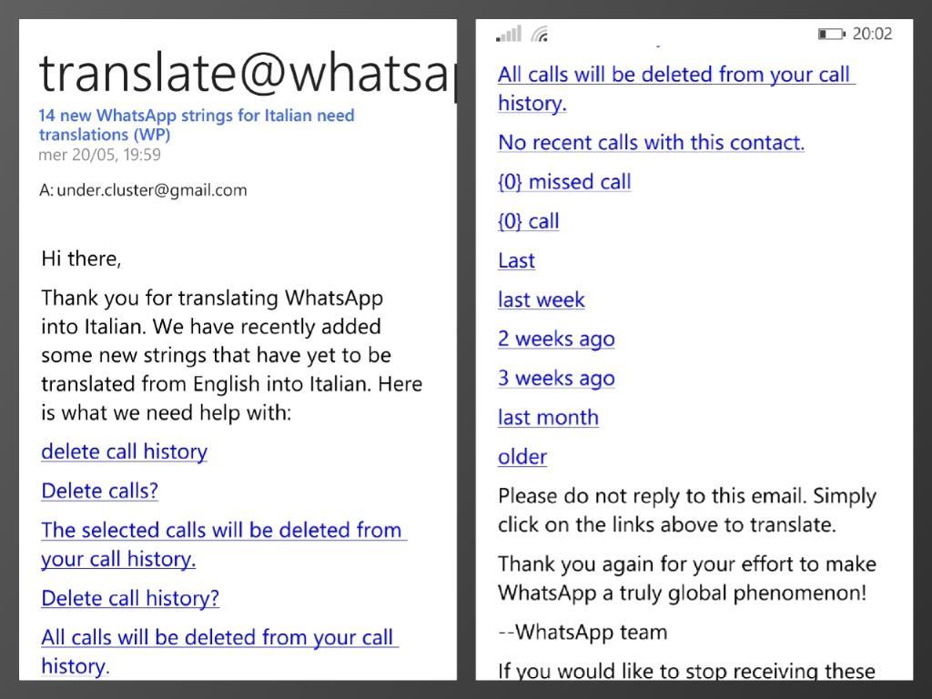 Whatsapp Übersetzung