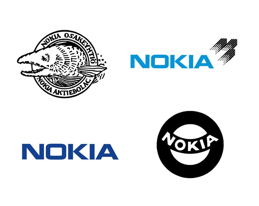 Das Nokia Logo im Wandel der Zeit. Quelle: @nokia