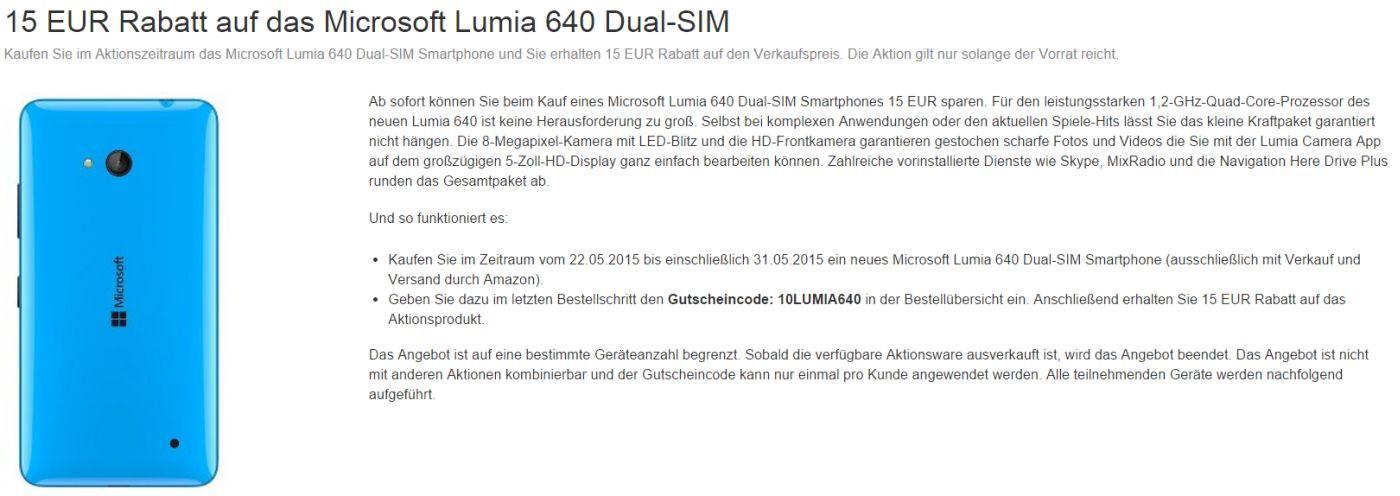 Lumia 640 Amazon