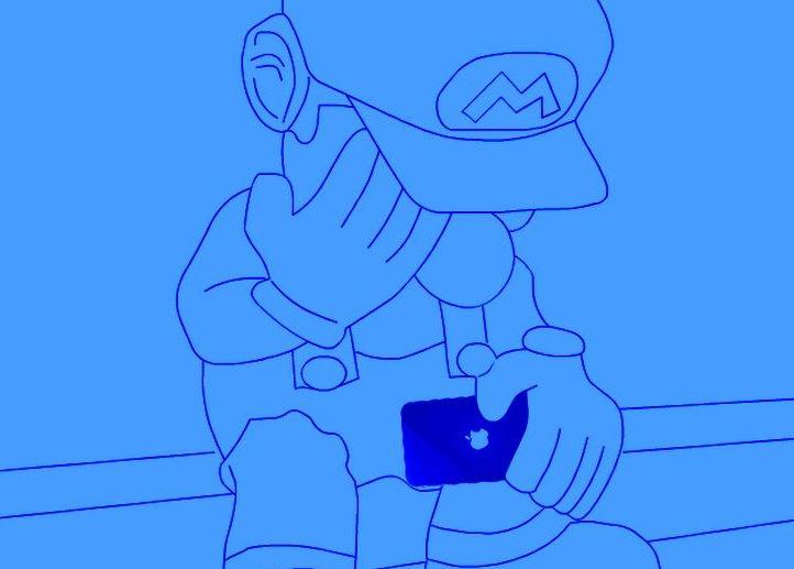Mario blau