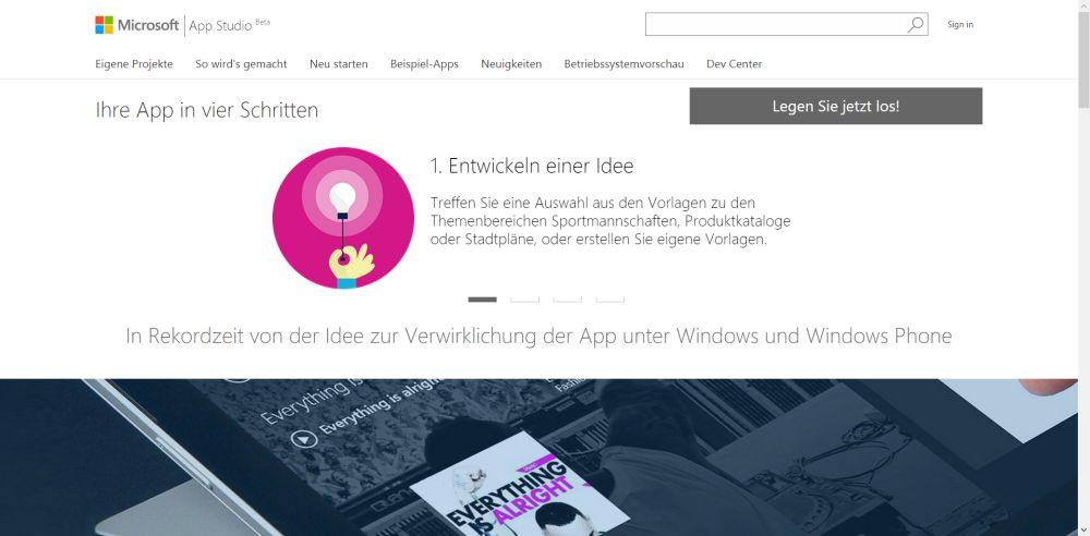 WindowsStudioBetaDeutsch