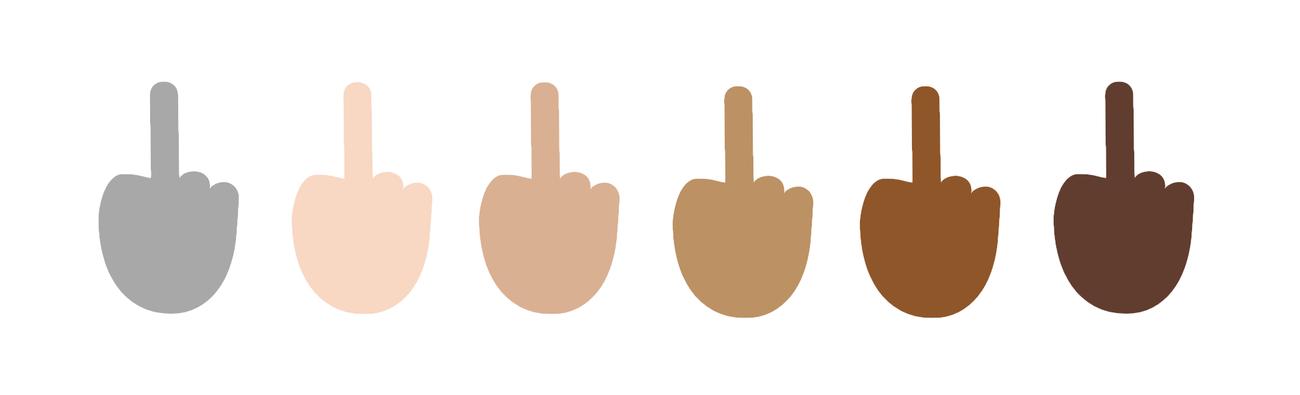 Emoji Mittelfinger Windows 10