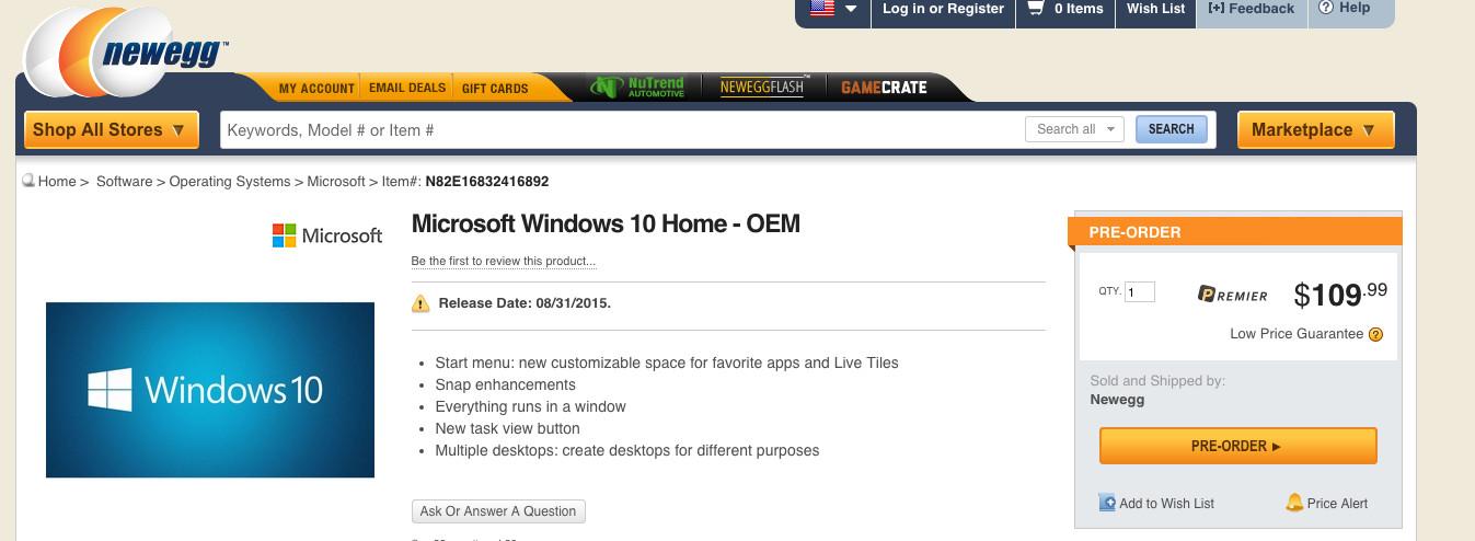 OEM Windows 10