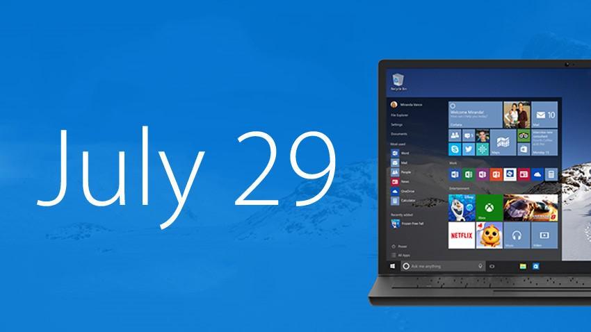 Windows 10 29 Juli