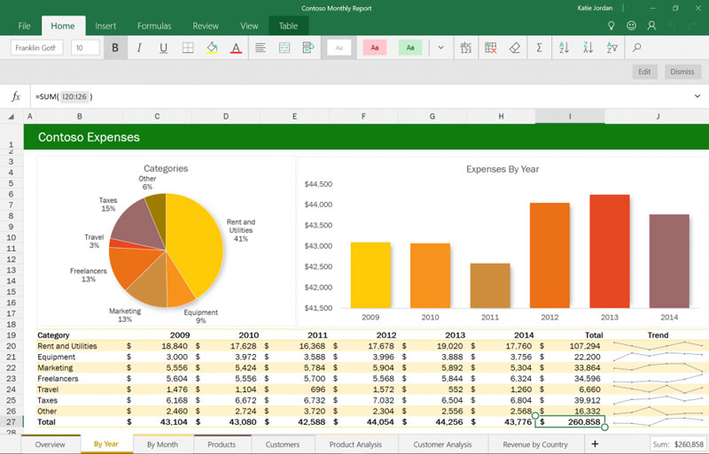 Excel-Windows-10-Office-App