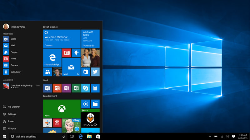 Windows-10-Startmenue