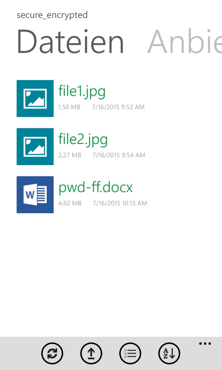 Boxcrypter Windows Phone App