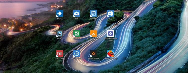 Apps on Startscreen