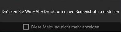 Xbox App Meldung