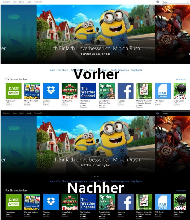 Store Vorher-Nachher