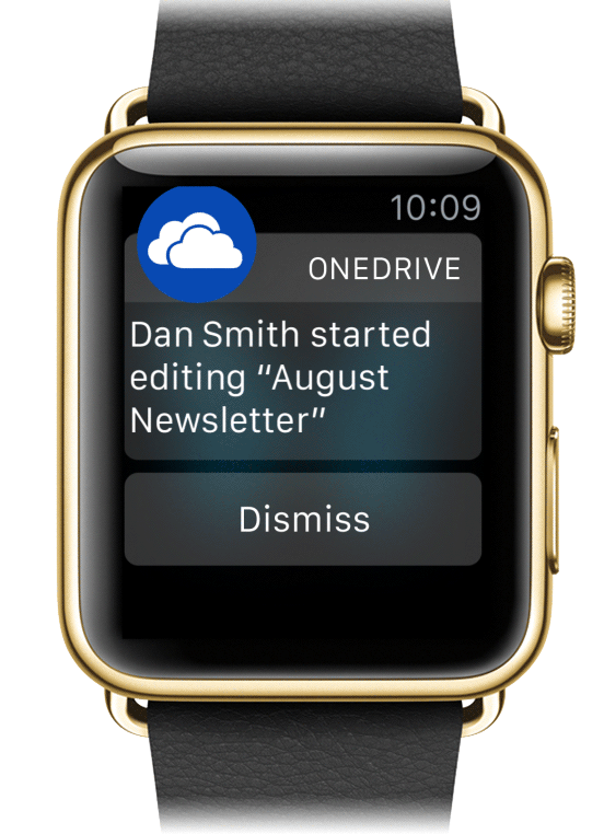 Apple Watch Onedrive