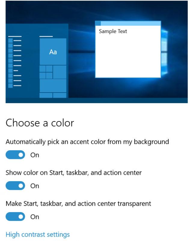 Windows 10 Einstellungen personalisieren