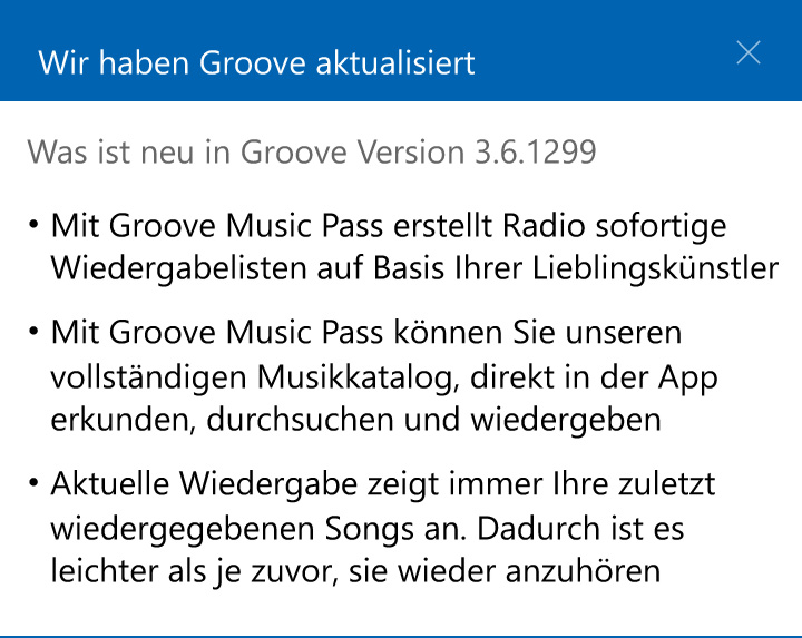 Groove-Music-Update
