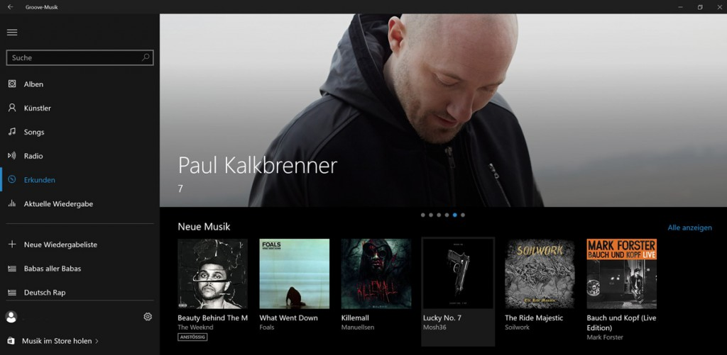 Groove-Musik-Screenshot