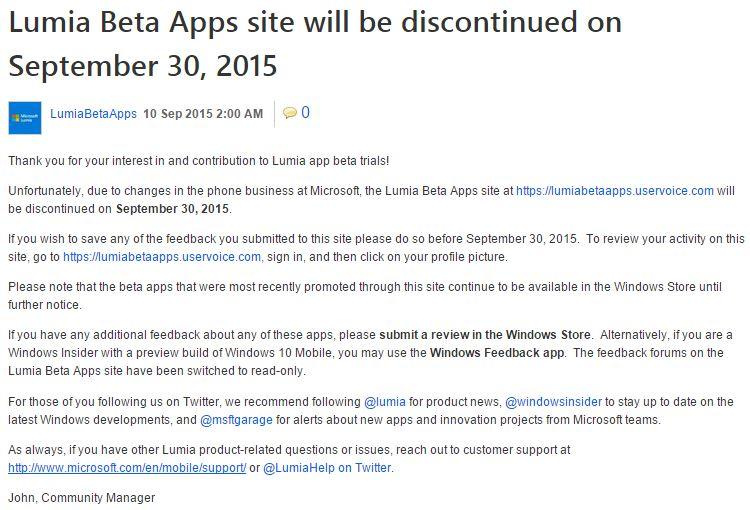 LumiaBetaApps